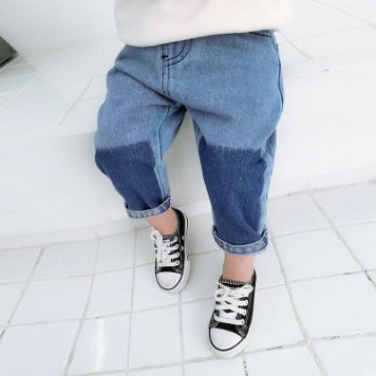 Kids Children Boy Blue Mixed Color Denim Jeans Long Pants Trousers