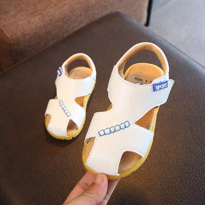 Kids Children Boy Korean Sandals Anti-Kick Baby Non-Slip Soft Bottom Beach Shoes