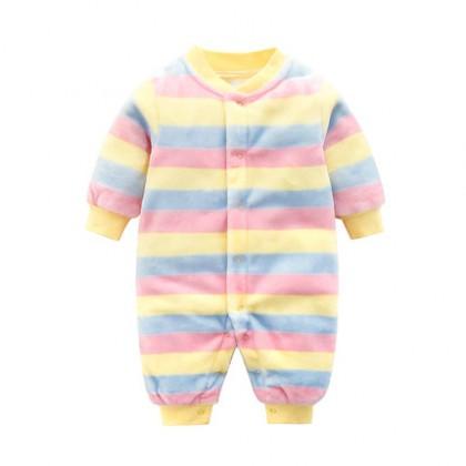 Baby Cute Girl Boy Keep Warm Thick Winter Pajamas Sleepwear