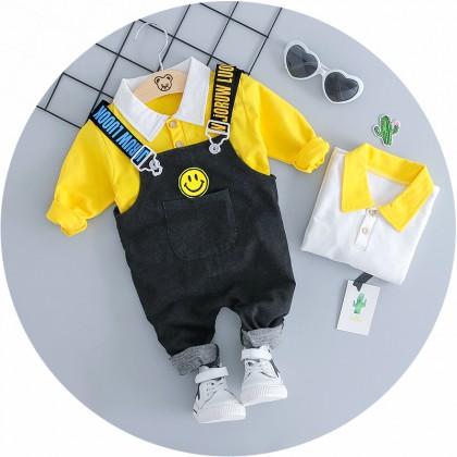 Kids Children Boy Korean Jumper Two Piece Long-sleeve Pants Set