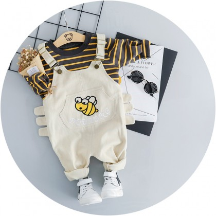 Kids Children Boy Infant Jumper Two Piece Long-sleeve Pants Set