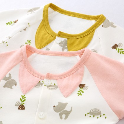 Siamese Clothes long-sleeved Spring and Autumn Newborn Baby Clothing Sleep Wear