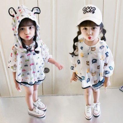 Kids Girl Sun Protection Clothing Conditioning Jacket Children Kids Tops