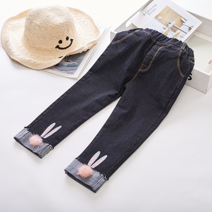 Kids Girl Jeans Denim Korean Version Pencil Pants Trousers Kids Clothing Bottoms