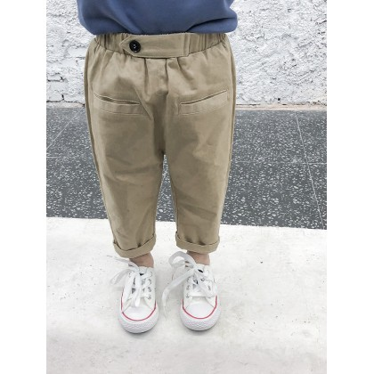 Kids Boys Cotton Class Casual Pants Spring Fashion Loose Kids Clothing Bottoms