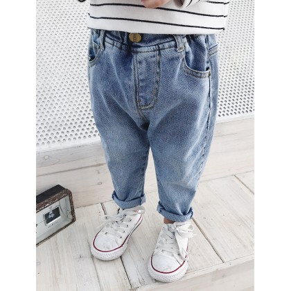 Kids Boys Bottoms Long Pants Casual Light Washed Denim New Jeans Spring  Outfits