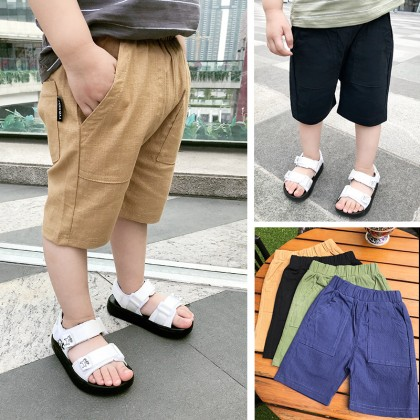 Kids Boys Clothing Bottoms Trousers Beach Casual Pants Summer Cotton Linen Short