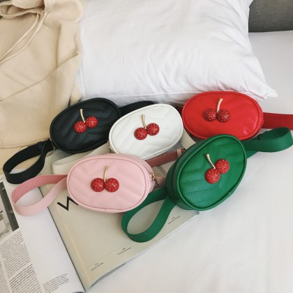 Kids Bags Girls Cherry Messenger Handbag Korean Style Children's  Shoulder Sling