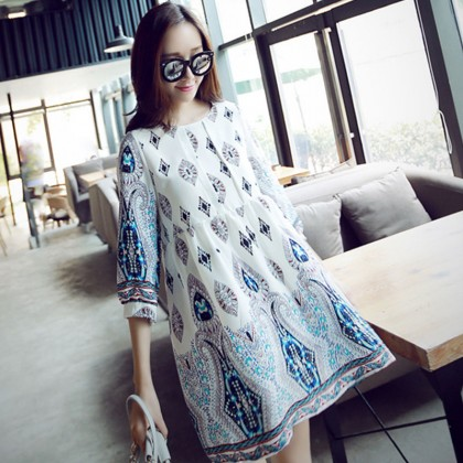 Maternity Clothing Dress Loose Female Pregnancy Wear Linen Retro Style Cotton