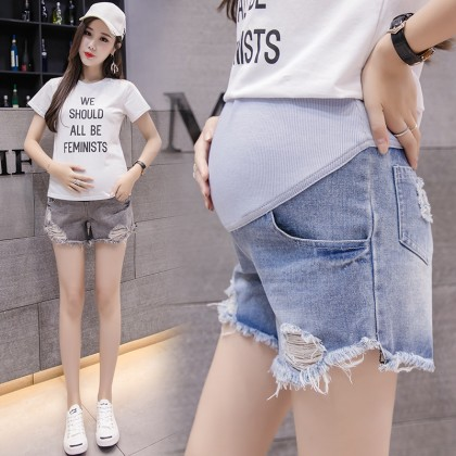 Maternity Clothing Shorts Women Denim Comfortable Pregnancy Wear Stomach Lift