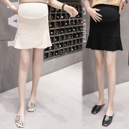 Maternity Clothing Skirts Pregnancy Stomach Lift Cotton  Fishtail Mother Wearing