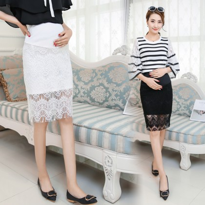 Maternity Clothing Skirts Pregnant Women Lace Hip New Spring Summer Korean Style