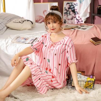 Maternity Clothing Sleepwear Long Dress Pregnant Women Night Wear Cotton Loose