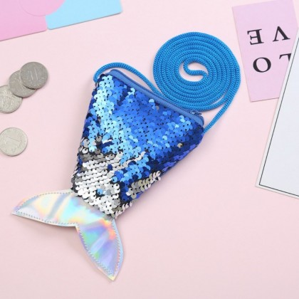 Kids Bags Girls Children's Glitter Fish Tail Style Messenger Sling Bag Shoulder