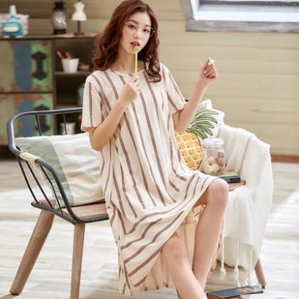Maternity Clothing Sleepwear Women Pregnancy Long Soft Cotton Summer Night Wear