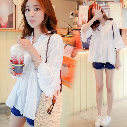 Maternity Clothing Tops Pregnancy Cotton Loose Blouse Summer Pregnancy Wear