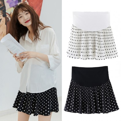 Maternity Clothing Skirts Pleated Korean Style Chiffon Pregnant Women Outwear