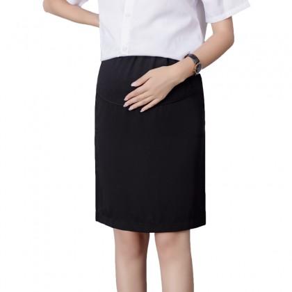 Maternity Clothing Skirts Slim Plain Black Stomach Lift Casual Pregnancy Wear