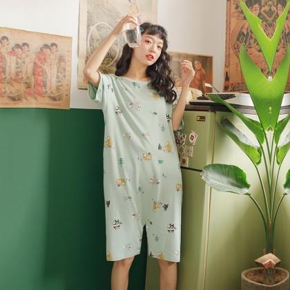 Maternity Clothing Sleepwear Soft  Cotton Jumpsuit Female Cute Night Wear
