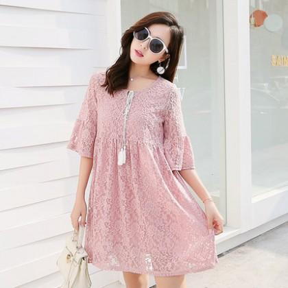 Maternity Clothing Dress Lace Cotton Pregnant Women Postpartum Summer Wear