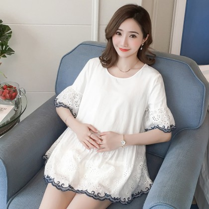 Maternity Clothing Tops Women Pregnancy Cotton Baby Doll Shirts Summer Loose