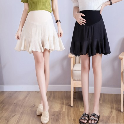 Maternity Clothing Skirts Short Cotton Stomach Lift Comfortable Pregnancy Wear