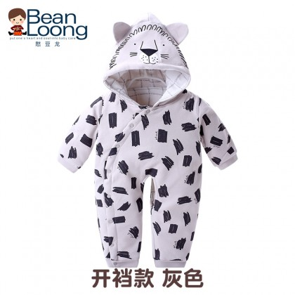 Baby Clothing Winter Wear Newborn Thick Cotton Clothes Romper Jumpsuit Hooded