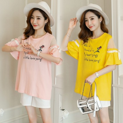 Maternity Clothing Tops Off Shoulder Loose Soft Cotton Pregnant Women Outwear