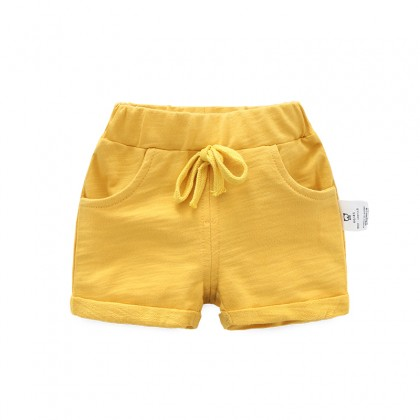 Baby Clothing Bottoms Cotton Summer Shorts With Pockets Children's Casual Shorts