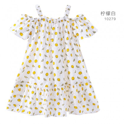 Kids Clothing Girls Dress Summer Children's  Clothes Soft Cotton Printed Casual