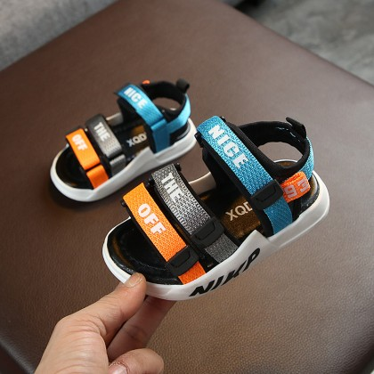 Kids Shoes Boys Children's Male Soft Bottom Colorful Breathable Summer Sandals