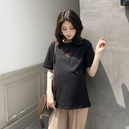 Maternity Clothing Tops Cotton Short Sleeved Cotton Summer Shirts Pregnancy Wear