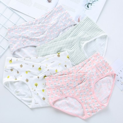 Maternity Clothing Underwear Soft Cotton High Waist Stomach Lift Pregnancy Wear