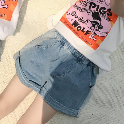 Kids Clothing Girls Bottoms Denim Shorts Stylish Children's Summer Outwear