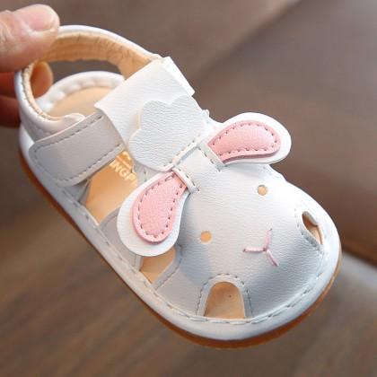 Kids Shoes Girls Rubber Soft Bottom Cartoon Bunny Sandals Footwear