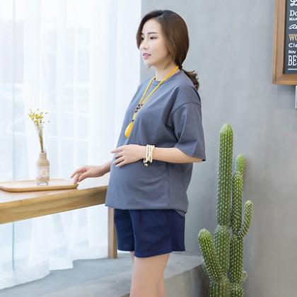 Women Elastic Casual Pregnancy Short Maternity Pants