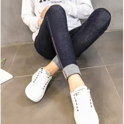 Women Adjustable Elastic Pregnancy Denim Long Jeans Maternity Pants