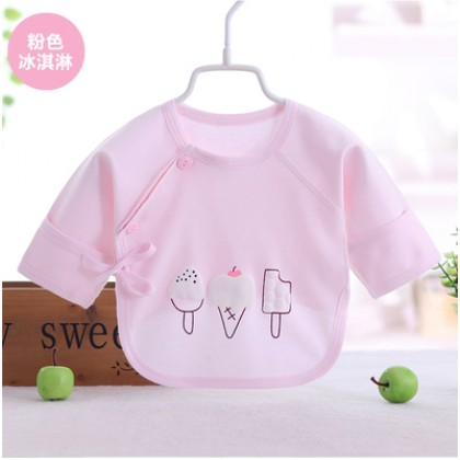 Baby Boy Girl Cute Cotton Ice Cream Long Sleeve T-Shirt Tops
