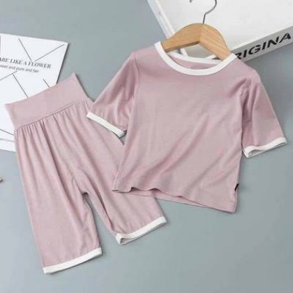 Kids Clothing Pure Cotton Children Modal Air-Conditioning Pajamas