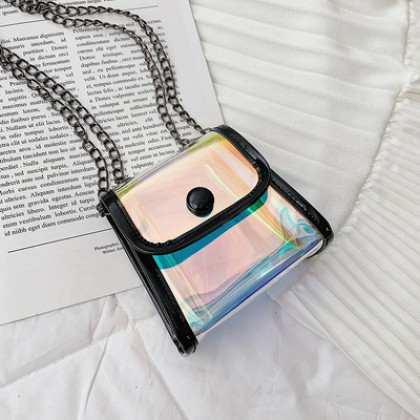 Kids Bags Transparent Jelly Mini Crossbody Girls Small Coin Pouch