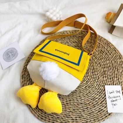 Kids Bags Cute Duck Back Design Small Crossbody Messengerbag