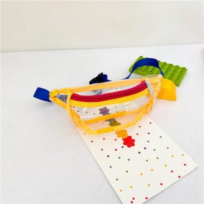 Kids Bags Transparent Sports Waist Belt Pouch Children Hip Pack