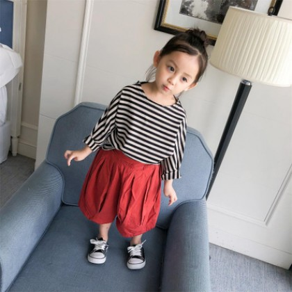 Kids Children Girl Casual Harem Loose Comfortable Long Pants Trousers